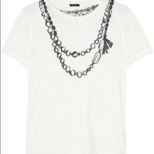 J. Crew artsy faux necklace Tahirt Top M